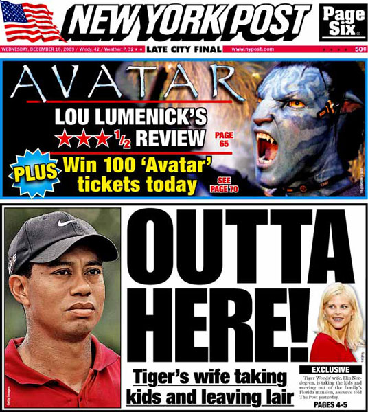 New York Post — December 16, 2009