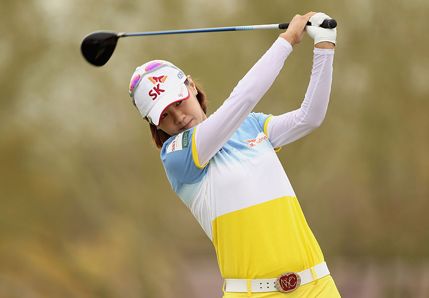 Na Yeon Choi shot a five-under 67 to move into second place.