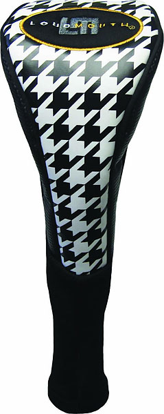 Oakmont driver head cover ($25.95 at loudmouthgolf.com)                           Not every Dad has the chutzpah to wear loud clothes on the course, but why not dress his driver in one of Loudmouth Golf's signature designs? This exploded hound's-tooth check driver cover is what the every well-dressed club should wear.