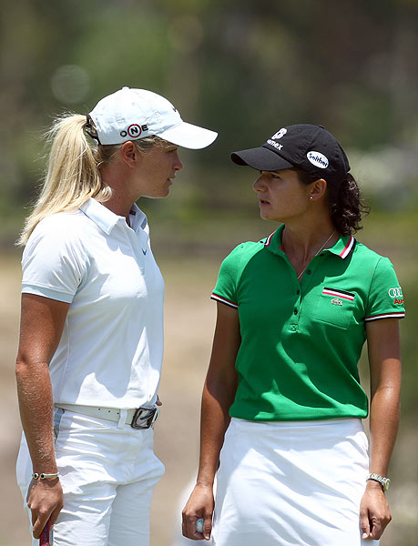 Suzann Pettersen put pressure on Ochoa during the final round.