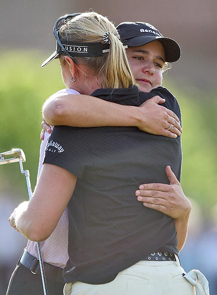 One of the first head-to-head matchups between Ochoa and Annika Sorenstam came at the 2005 Safeway International. They both finished the tournament at 11 under par and headed to a sudden-death playoff, which Annika won on the first hole.