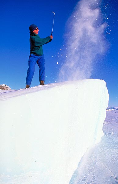Icebergs are a part of the course.                                                                      Golf's Frozen 4 | Winter Survival Guide