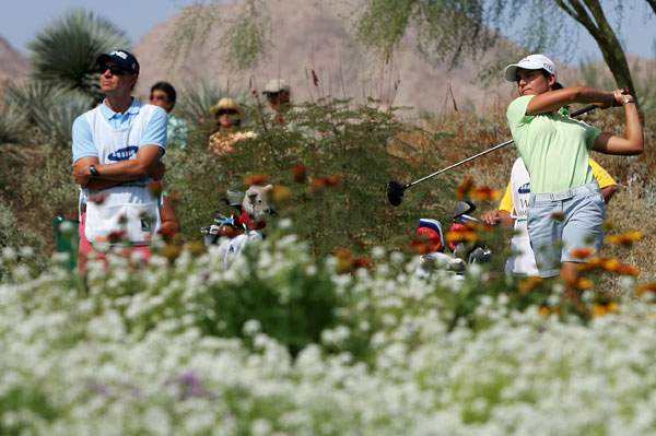 Samsung World Championship: Round 2                                              Lorena Ochoa grabbed a one-shot lead after a bogey-free 67.