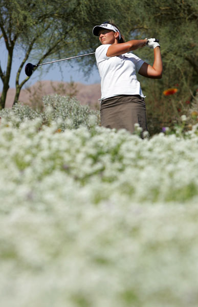Angela Stanford finished one behind Ochoa after a six-under 66.