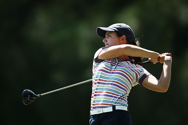 Lorena Ochoa shot a 2-over 74 in the opening round.