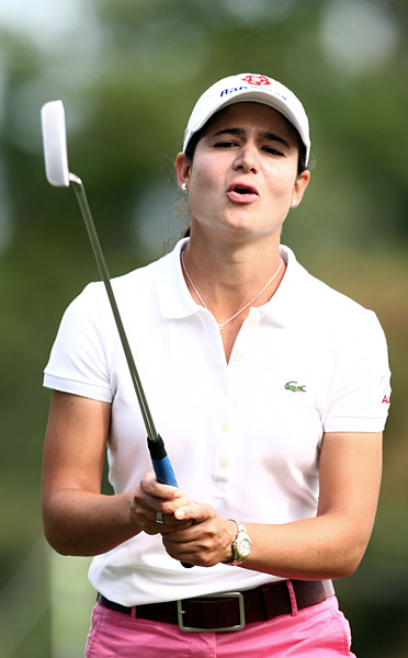 Ochoa made six birdies, but she just missed on the 12th hole.