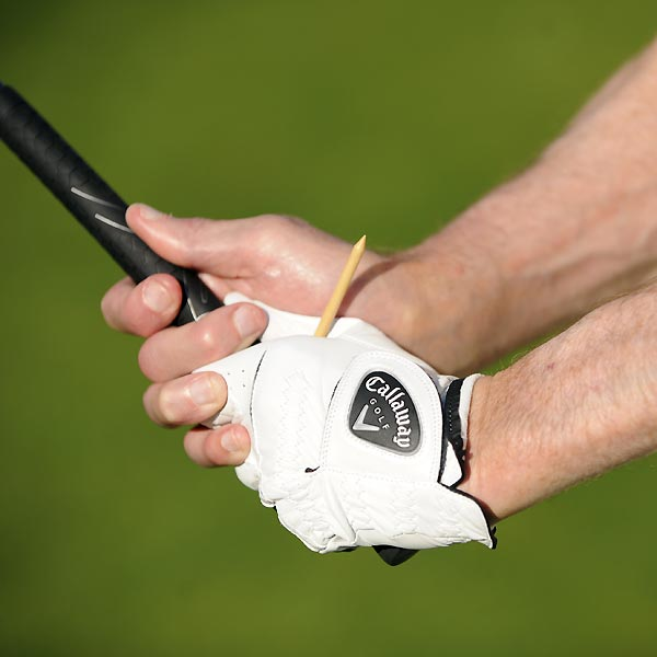 3.  Half way into your downswing, where the club is parallel to the ground, it points at the sky again.
