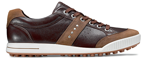 "$140, ecco.com, Buy on Golf.com                           When Fred Couples shot a 66 at                           the 2010 Masters, it turned a lot of                           heads — and many of them looked                           straight down at Freddie's Ecco                           Golf Street Premiers, a golf shoe                           designed to look a lot like a sneaker.                           Ecco describes the design as ""footfirst,""                           because it puts a premium                           on comfort rather than traction.                           Still, to combat the shoe's lack                           of traditional spikes, the outsole                           features nearly 100 ""traction                           bars"" for enhanced grip. Unlike                           Fred, however, we recommend you wear socks..."
