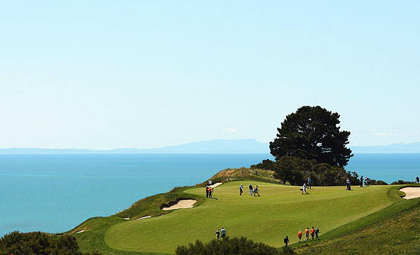 The Kiwi Challenge was played on the par-72 Cape Kidnappers course on New Zealand's North Island.