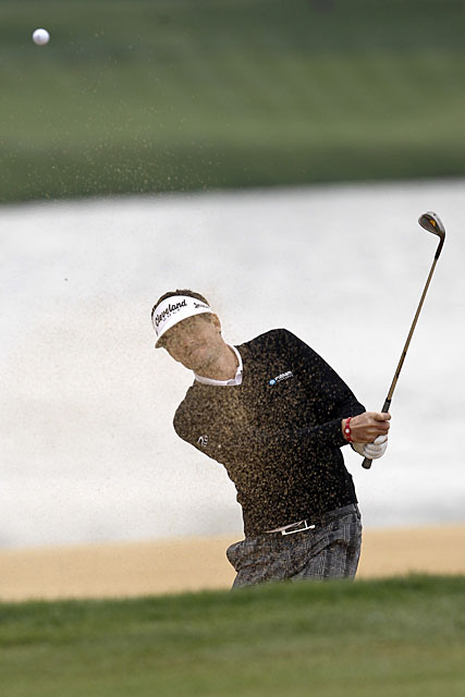 Keegan Bradley finished tied for 12th place on Saturday.
