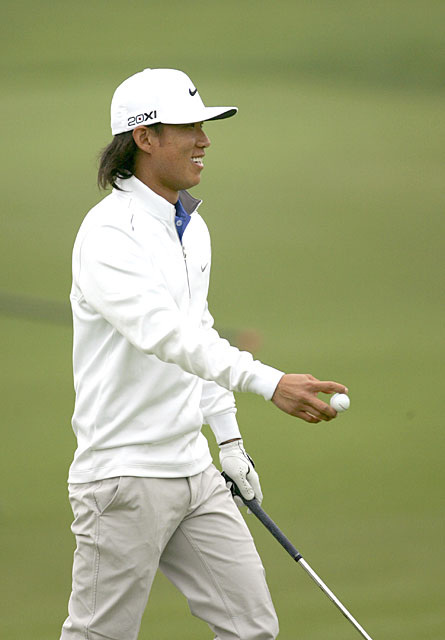 Anthony Kim moved into second place after a seven-under 65.