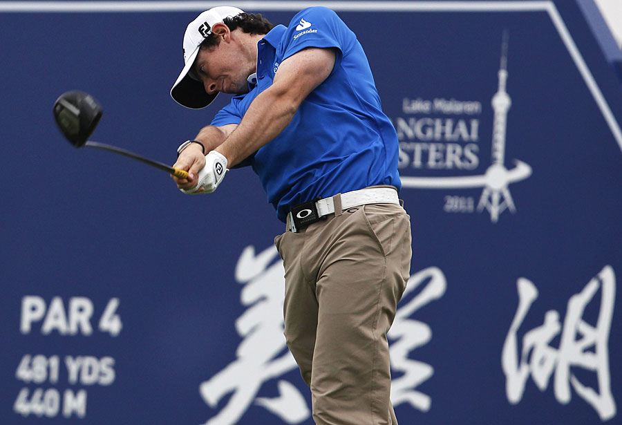 Rory McIlroy shot a bogey-free 65 to extend his lead to three shots.