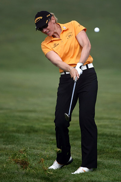 Annika Sorenstam, playing with Ochoa, also shot a 69.