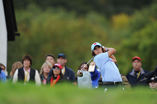 was unable to pick Mickelson up on Sunday, as they lost to Ian Poulter and Martin Kaymer, 2 and 1.