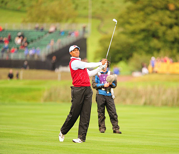 and his partner Steve Stricker began the day 4 down to Lee Westwood and Luke Donald.