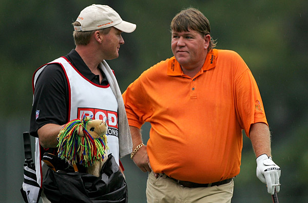 In March 2008, Daly spent a rain delay at the PODS Championship inside a Hooters tent. He emerged with Tampa Bay Buccaneers coach Jon Gruden as his caddie. Golf instructor Butch Harmon ended his relationship with Daly after the incident, saying Daly spent more time drinking than working on his game.