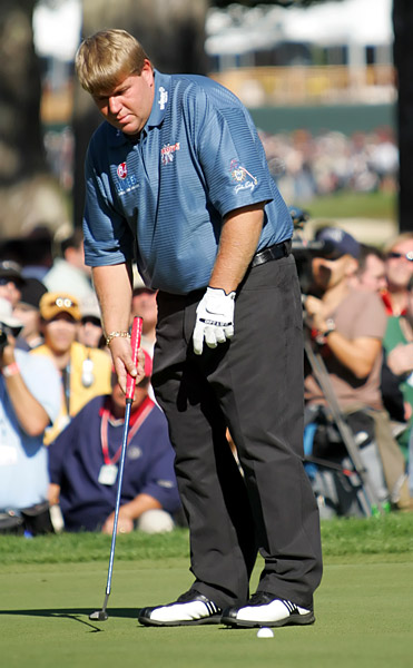 At San Francisco's Harding Park in the 2005 WGC-American Express Championship, Daly missed a three-foot putt to lose in a playoff to Tiger Woods.