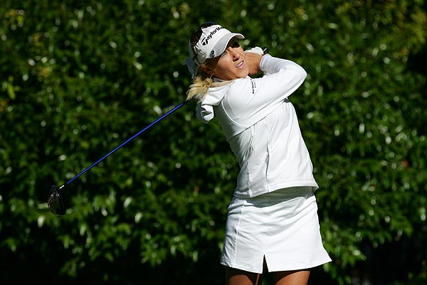 With five birdies and seven bogeys, Natalie Gulbis finished at two over par in the first round of Longs Drugs Challenge.