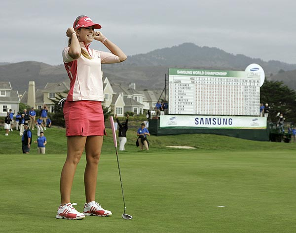 Creamer beat Song-Hee Kim by a stroke at the 2008 Samsung World Championship.                                                      More Paula Creamer:                           • Paula Creamer Home Page                           • Paula Creamer wins 2008 Samsung World Championship                           • Creamer rallies to wins 2008 Fields Open                           • Creamer wins 2007 Tournament of Champions