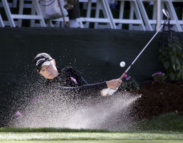 Morgan Pressel made four bogeys and three birdies for a one-over 73.