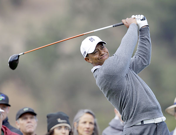 Tiger Woods played in the pro-am Wednesday at the Frys.com Open.