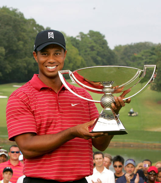 Winner: FedEx Cup Playoffs                           A million things  could've gone wrong with the inaugural series, but  nothing did. There were four fantastic winners: Steve  Stricker's Cinderella story at Westchester, Mickelson's squeaker over Tiger in Boston, Woods turning  on the jets with a closing 63 in Chicago and then  Tiger crushing the field in Atlanta. Most important:  The first FedEx Cup has Woods's name on it.