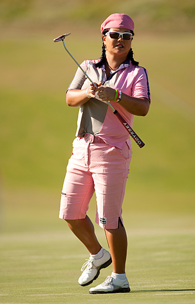 Christina Kim struggled Friday, shooting 73.