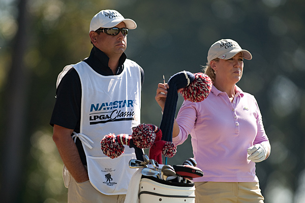 Cristie Kerr shot up the leaderboard after shooting five under.