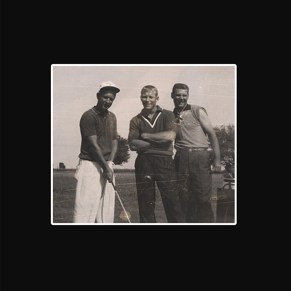 Smith, Mantle and Yankee Tom Sturdivant at Miami C.C. circa '54.