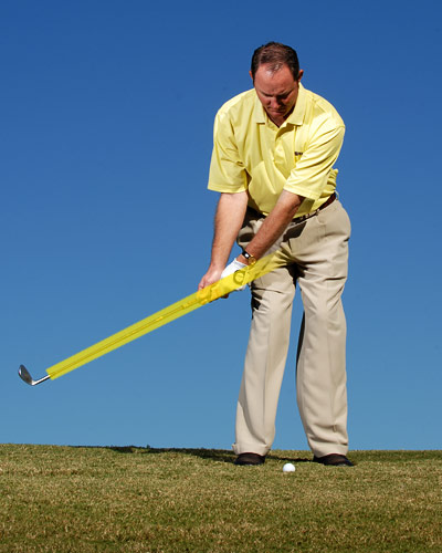 ...keep it intact when you make your backswing...
