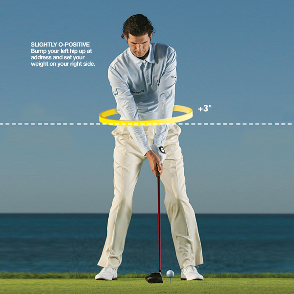 How to get the O-Factor                       A fundamentally sound and powerful swing is driven by a slightly positive O-Factor at address, a neutral                       O-Factor at the top of your backswing, and a very positive O-Factor through impact. Make the following                       moves — some old, some new — and you'll be O-Positive and O-Neutral in all of the right spots.