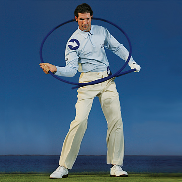 Hip wheel up                                                      Downswing: As your hip wheel moves up, your shoulder wheel moves down and then through.