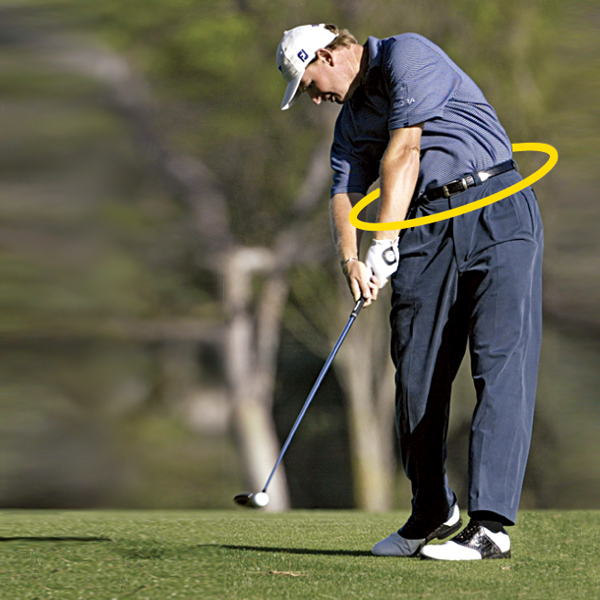 "Os & Els                           Reports out of Ernie Els' home course of Queenwood Country Club outside London                           say that the three-time major winner is ""trying to get my left leg back                           into my swing.""                                                       Is it a coincidence that Robert Baker has also been paying visits to Queenwood? Recent photos show that Els is nearly back to his pre-injury form,                           which featured huge O-Factor at impact.                            — David DeNunzio                           MASTER IN DISGUISE                           Despite bagging seven top-10s in the 2003 and 2004 majors, Els' O-Factor had begun to weaken."