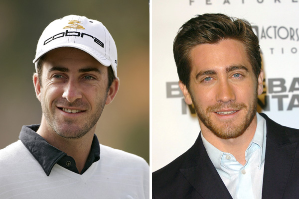 Geoff Ogilvy and actor Jake Gyllenhaal