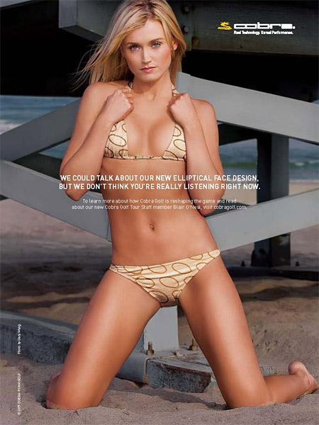 Blair O'Neal's Cobra ad was featured in the 2012 SI Swimsuit issue.