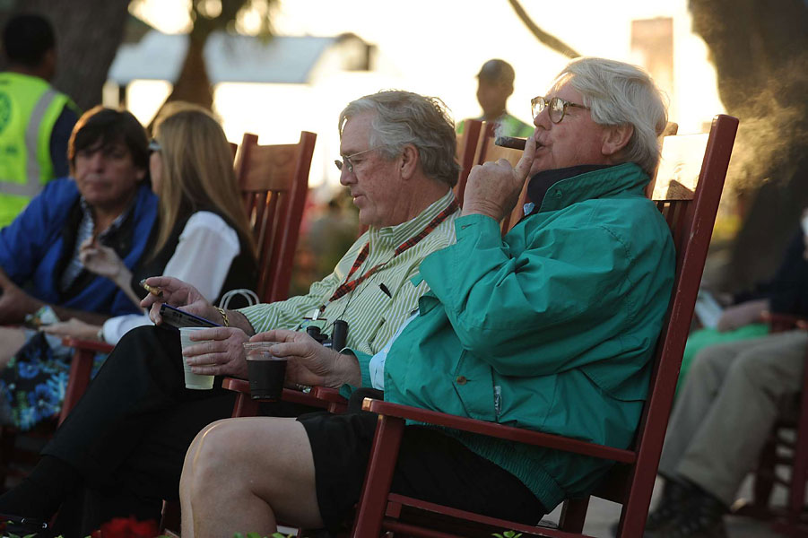 Whiling away the day post-tournament with a drink, a cigar and a rocking chair is an art form at the marina village on Harbour Island.