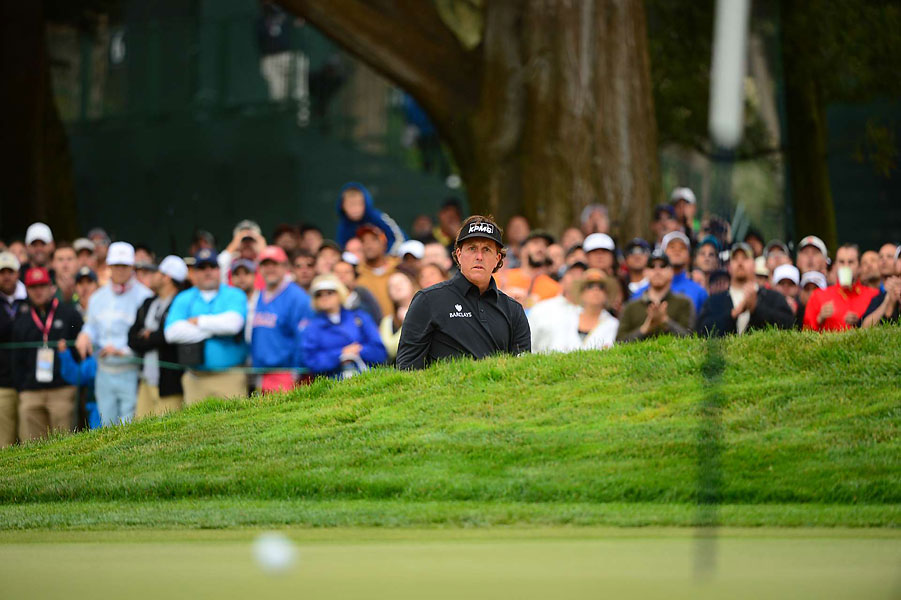 Mickelson got off to a rough start, shooting 76 on Thursday.