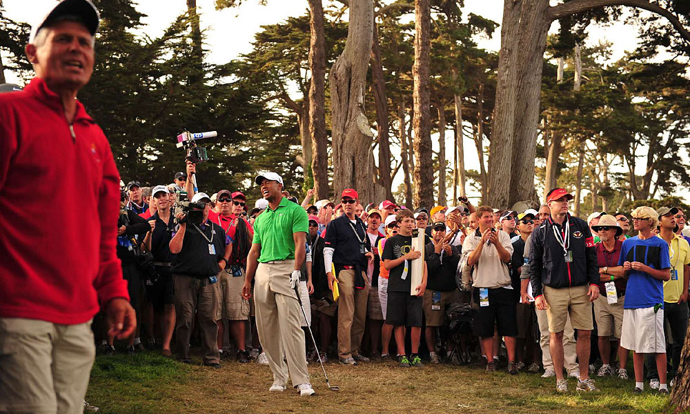 Woods fell out of contention after shooting five-over 75 in the third round.