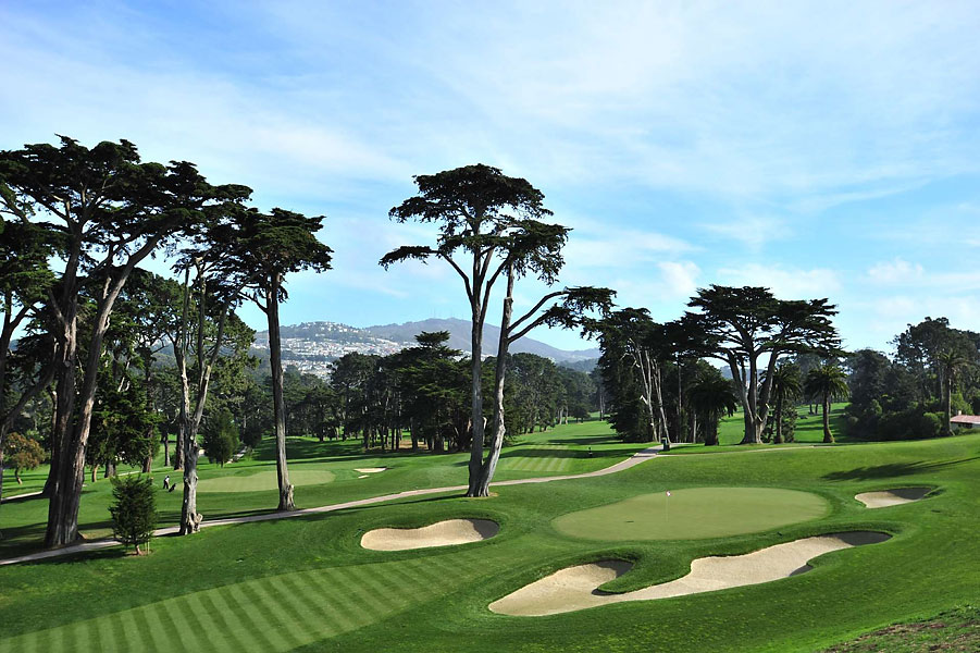 The Olympic Club has hosted the U.S. Open four times: 1955, 1966, 1987 and 1998. Shown above is No. 8 on The Lake course.