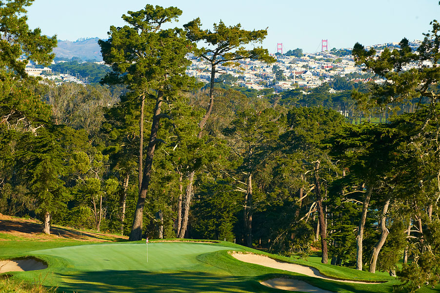 The course sits right outside downtown San Francisco.