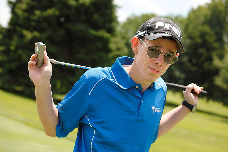 With the help of his SMGA-assigned pro and a prosthetic, Nathan Kalwicki has started to find his old swing.