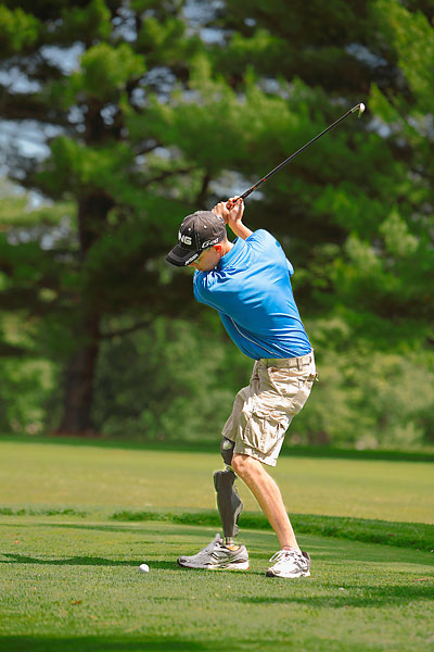 On the golf team in high school, Kalwicki is thrilled to be back on the course.