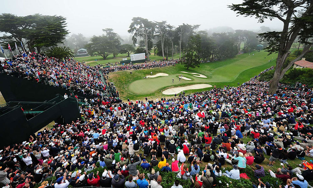 The crowd at No. 18.