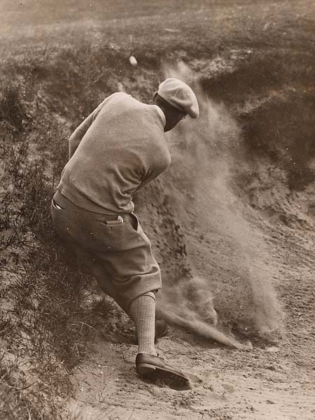 Older photos of Walker Cup players are hard to find, but here's 1913 U.S. Open champion Francis Ouimet at the 1923 Walker Cup at St. Andrews. The U.S. side won the 1923 edition.