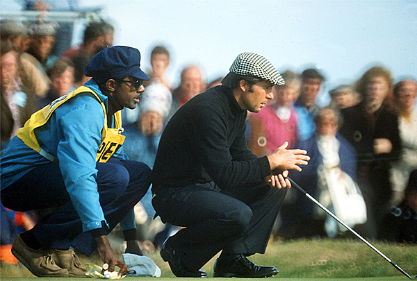8. The 1974 British Open                       Caddie Rabbit Dyer helped Player win his third career Open Championship at Royal Lytham & St. Annes.