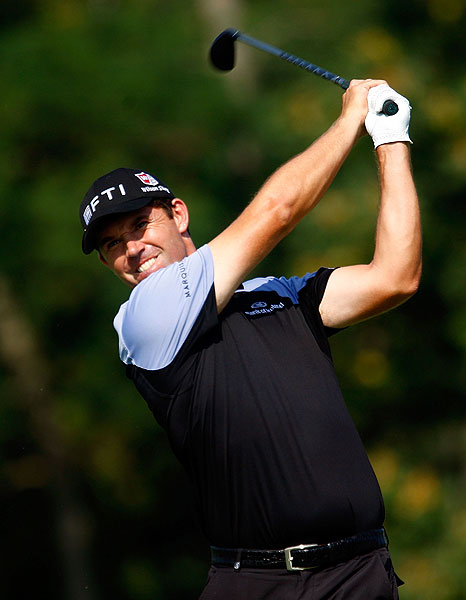 was bogey free in the first round of the BMW and shot 68.