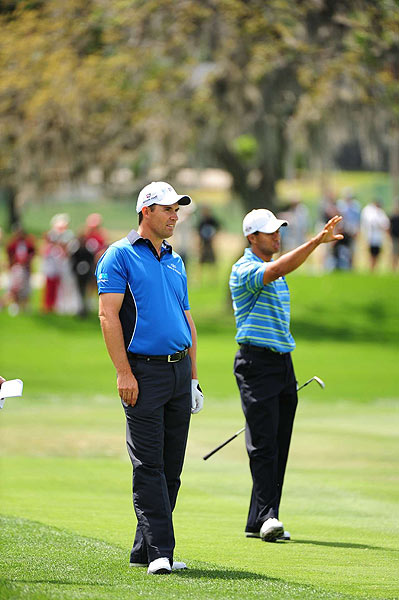 Woods played with Padraig Harrington on Thursday.