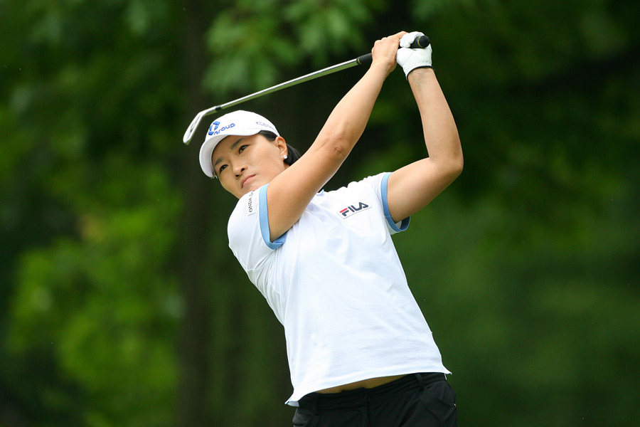 Se Ri Pak struggled to a four-over 76.