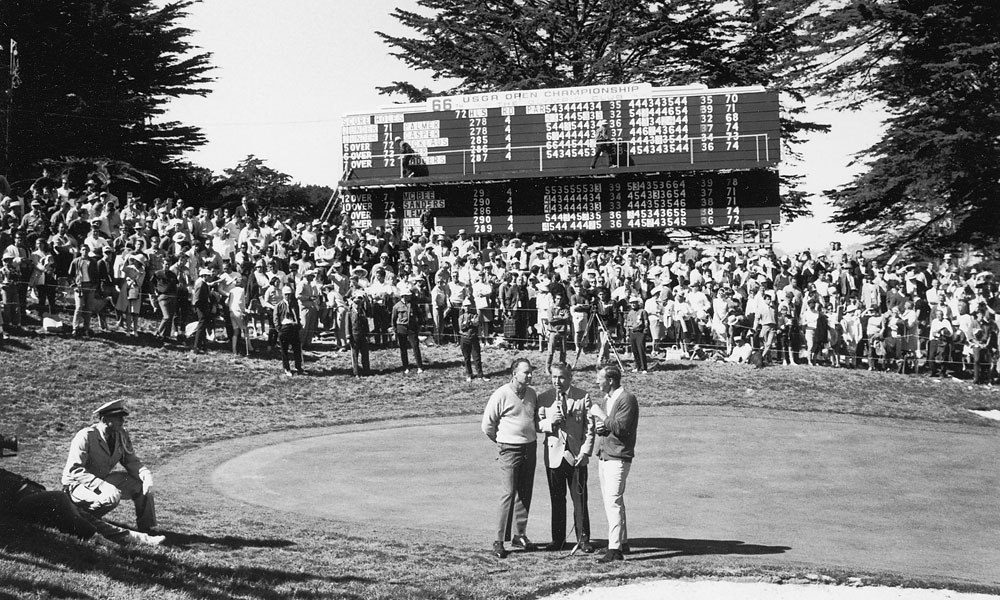 Arnold Palmer and Billy Casper were tied after regulation play and went head-to-head in a playoff where Casper defeated Palmer.
