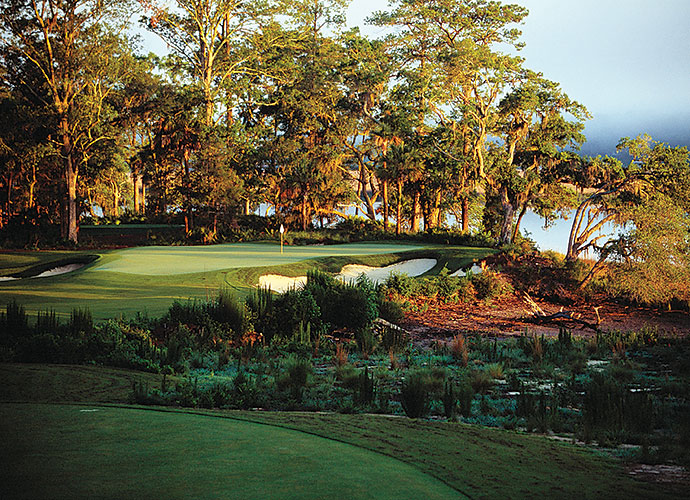 10. May River Golf Club at Palmetto Bluff, Bluffton, S.C.: This low-key romp through the salt marshes and 300-year-old oaks of the Lowcountry features soft contouring and mostly level terrain, making for a wonderful walk and quick pace of play. However, you'll want to linger awhile at the par-3 6th, which traverses Greenleaf Creek, and at the par-3 14th that edges so close to the May River you could stick your ball retriever in and pull out an oyster lunch.